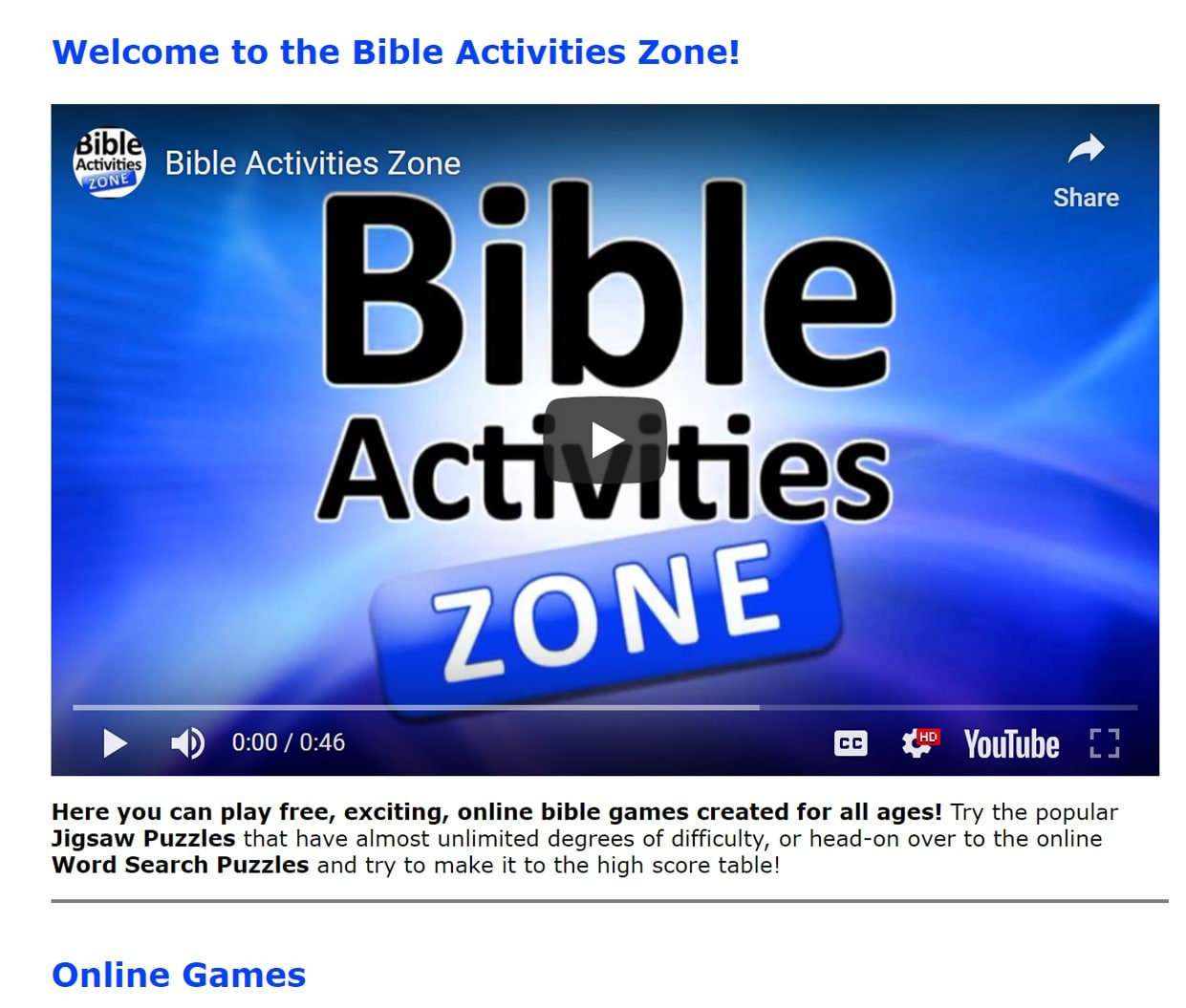 Christian Gaming For All The Family